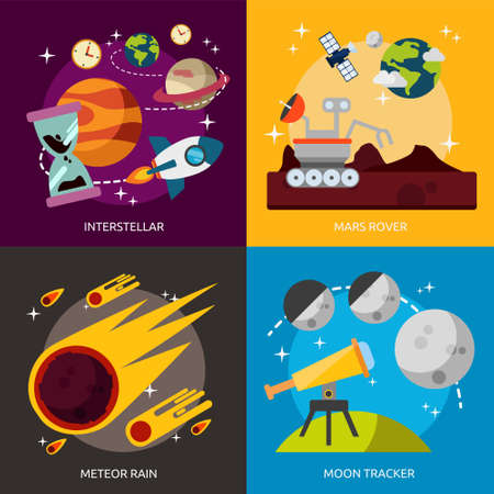 moon rover: Space and Universe Illustration