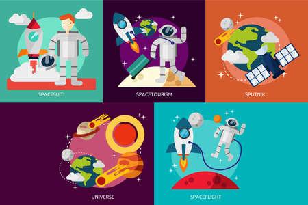 Space and Universe Ilustração
