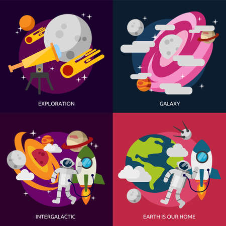 Space and Universe Vectores