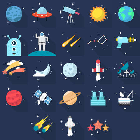 Space Icons Vettoriali