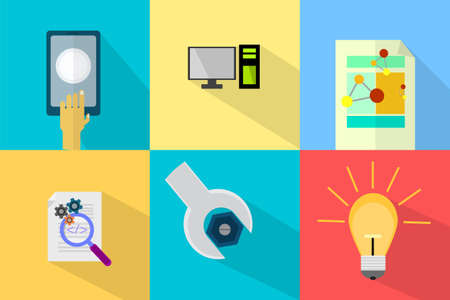 vector web design elements: WEB and Development Illustration