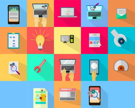 icono computadora: WEB y Desarrollo Vectores