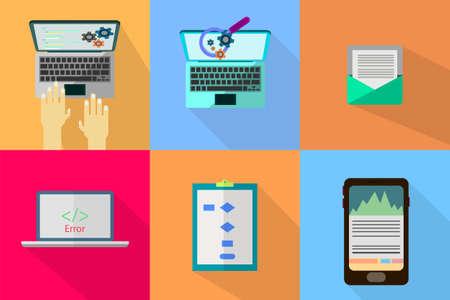 web development: WEB and Development Illustration