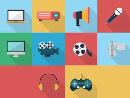 Multimedia Icons 矢量图像