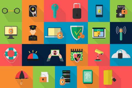 privacy: Iconos de seguridad Vectores