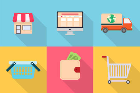 e commerce icon: Shoping and E-Commerce
