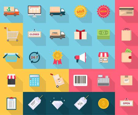 Shoping en E-Commerce Stock Illustratie