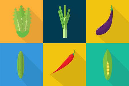Groenten Pictogrammen Stock Illustratie