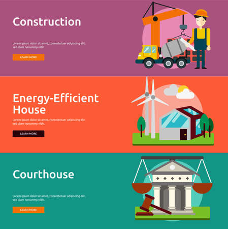 Building and Construction Banner Set