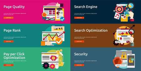 page rank: SEO and Development Illustration