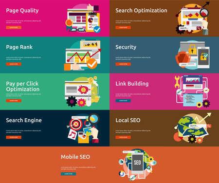 page rank: SEO and Development Illustration