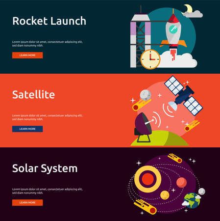satellite launch: Space and Universe Illustration