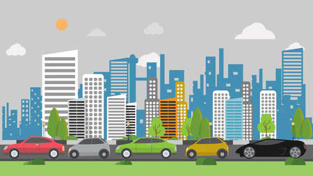 city lights: Traffic Jam Background