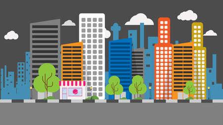 city: City Background Illustration