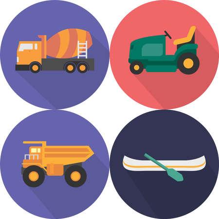 Transportation Icons Set Illusztráció
