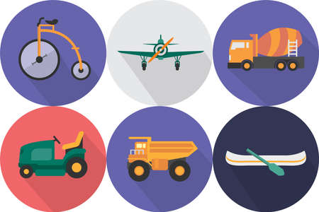 Transportation Icons Set Ilustracja
