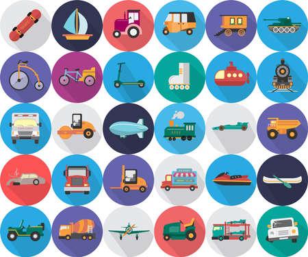 Transportation Icons Set 向量圖像