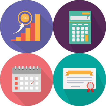 bussiness time: Business Icons Set Illustration