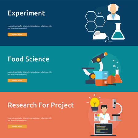food industry: Science and Research Banner Set