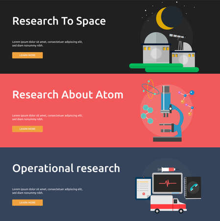operational: Science and Research Banner Set