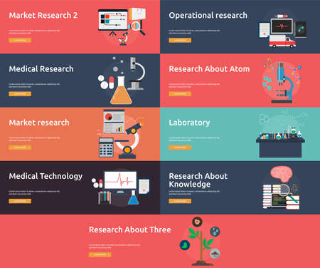 Science and Research Banner Set