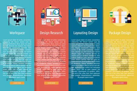 digital printing: Design and Development Vertical Banner Concept