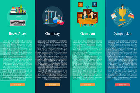 Education and Science Vertical Banner Concept