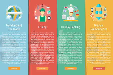 Holiday and Recreations Vertical Banner Concept