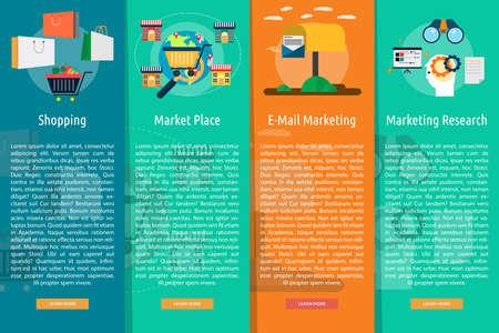 market place: Marketing and Management Vertical Banner Concept