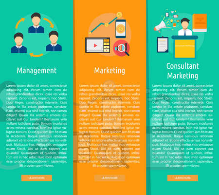 Marketing and Management Vertical Banner Concept