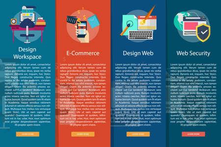 vertical banner: Web and Development Vertical Banner Concept