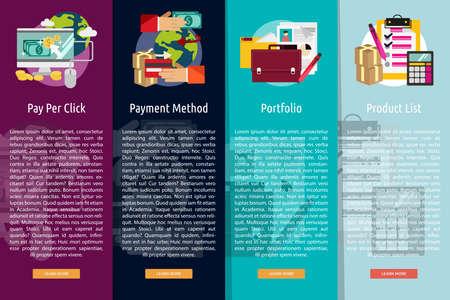 vertical banner: Business and Marketing Vertical Banner Concept Illustration