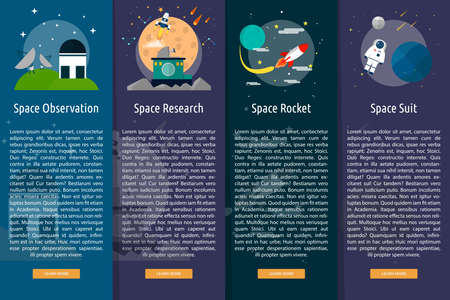 Space and Universe Vertical Banner Concept Stock Illustratie
