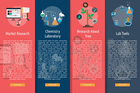 astrophysics: Science and Research Vertical Banner Concept Illustration
