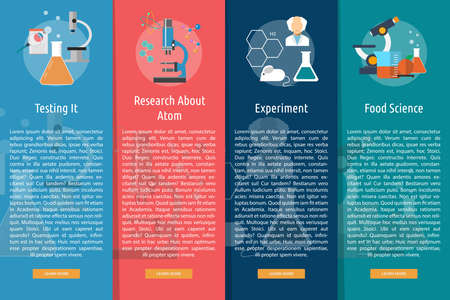 analytical: Science and Research Vertical Banner Concept Illustration
