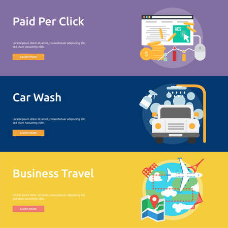 car wash: Business Concept Design Illustration