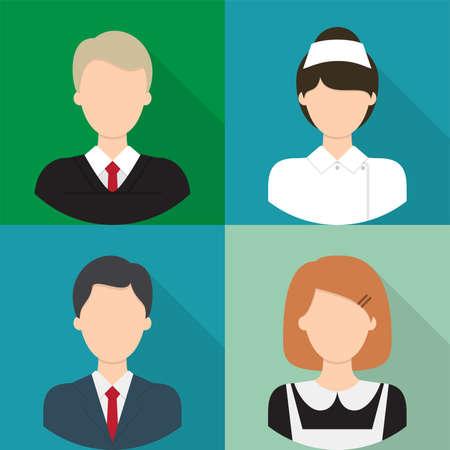 female judge: Avatar Icons Set