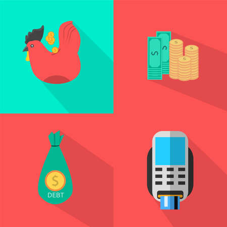 debt management: Finance and Banking Icons Set