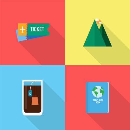 sandal tree: Holiday and Recreations Icons Set