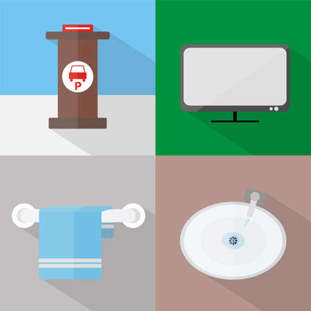 Hotel and Restaurant Icons Set