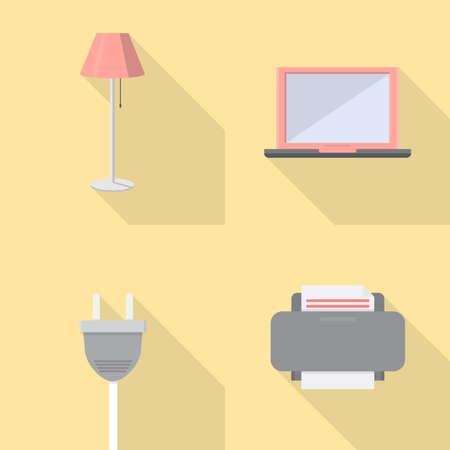 peripherals: Electronics Icons Set