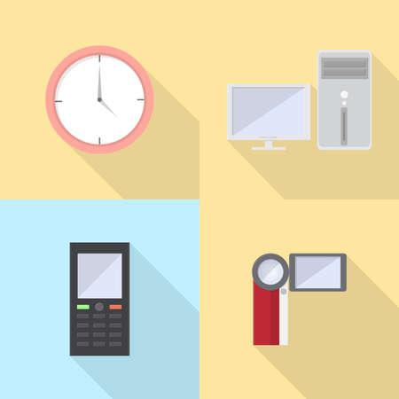 Set de iconos de la electrónica