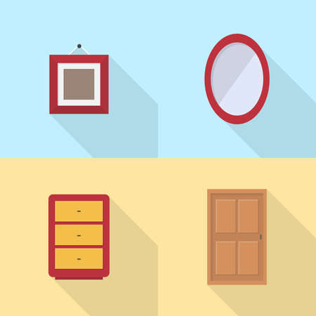 Interior and Furniture Icons Set 向量圖像