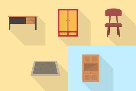 Interior and Furniture Icons Set Ilustração
