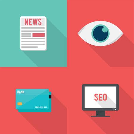 article marketing: SEO Icons Set