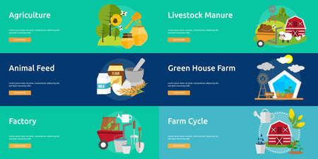 manure: Farm and Ranch Banner Set