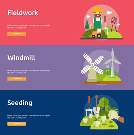 fieldwork: Farm and Ranch Banner Set