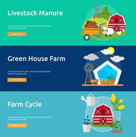 rancho: Granjas y Ranchos Conjunto de la bandera