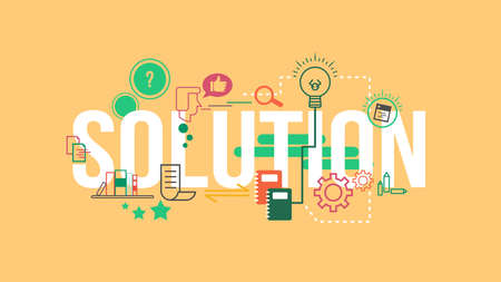 solution: Solution Typography Design Concept Illustration