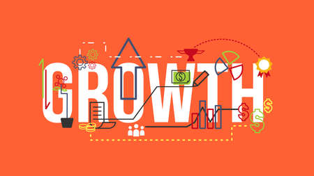 growth: Growth Typography Design Concept